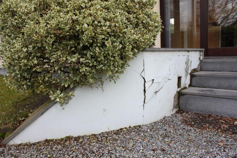 Renovatie buitentrap : voor